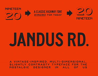 Jandus Road - A Highway Display Font