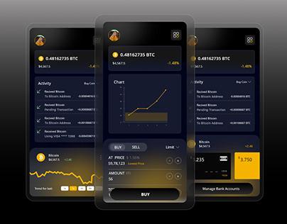 Trending Cryptocurrency Exchange App ui design
