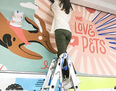 Mural - We Love Pets
