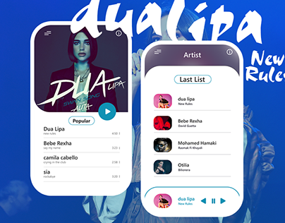 UI/UX Design | Music Dua Lipa