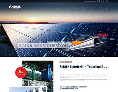 Formal Aluminium Website Design