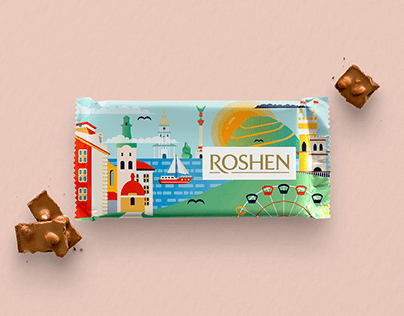 The packaging design concept for Roshen chocolate