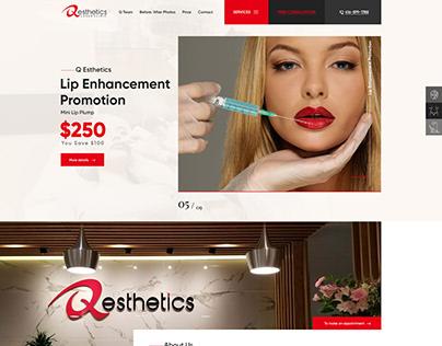 QEsthetics_Website Designing