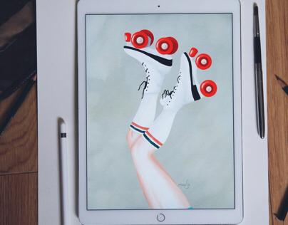 Roller Skate Legs