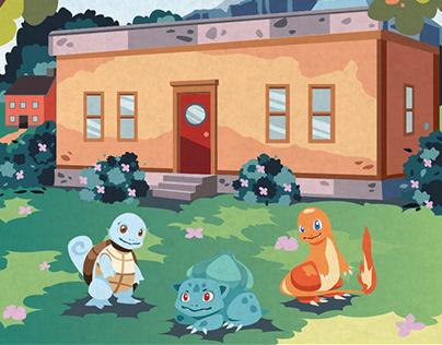 Pokemon Travel Poster - Pallet Town