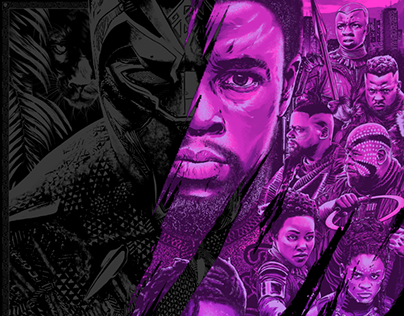 Black Panther Officially Licensed Screen-Print