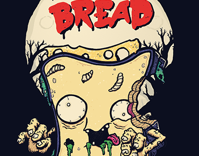T-Shirt Design 'Night of the Living Bread'