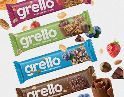 Branding : Grello Protein Bar