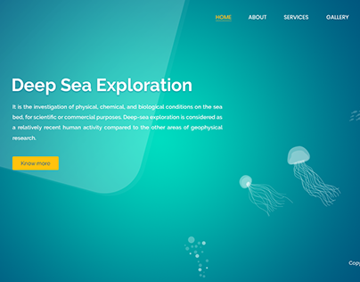 Landing Page - Sea Exploration