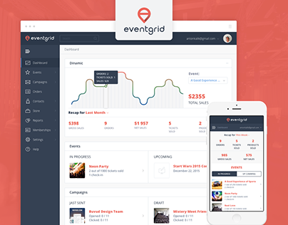 Eventgrid UI Dashboard and Landing Page