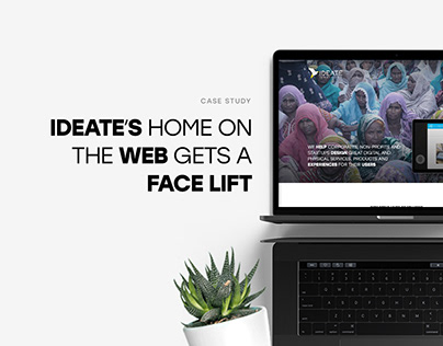 Case Study: IDEATE's Home On The Web Gets A Face lift
