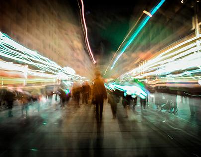 Blur night Yerevan