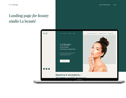 Landing page Beauty salon