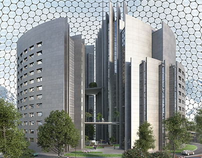 Residential complex under a sphere