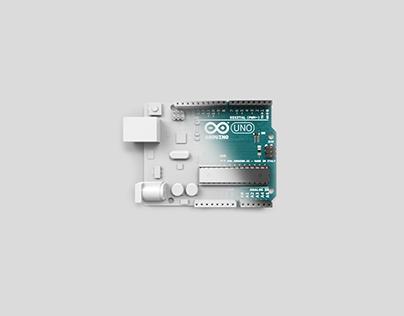 Arduino UNO - detailed 3D model