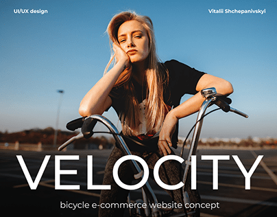 Bicycle e-commerce website concept