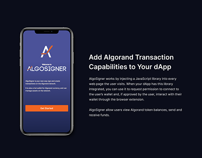 Building dApps with AlgoSigner