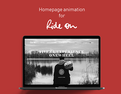 Ride on - Homepage animation