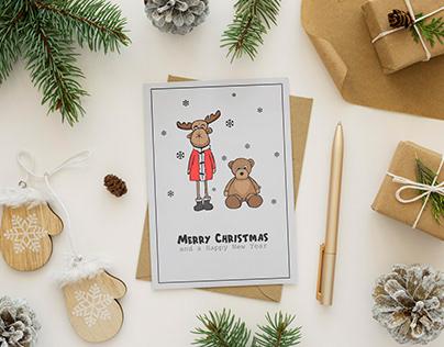 Hand-drawn Christmas card
