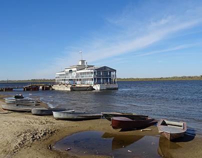 The Volga River in Russia