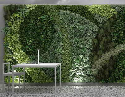 3D MODEL: vertical gardening.