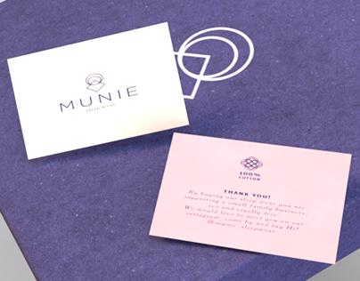 Munie Sleep Wear Branding
