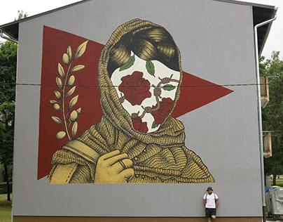 Mural of solidarity with people of Palestine / Croatia