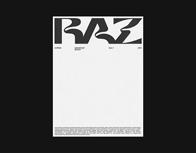 RAZ printed poster concept