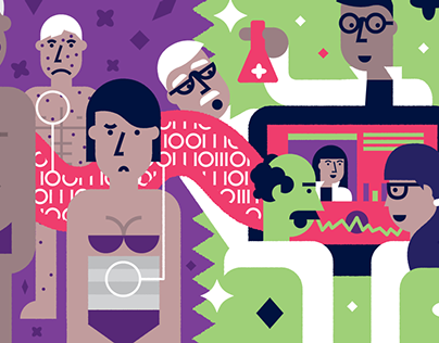 Fighting cancer with Big data illustrations