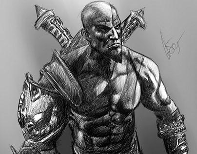 Fan art of Kratos (God Of War 3)