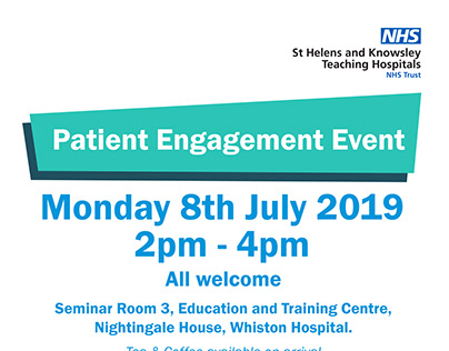 Patient Engagement A4 Event Poster