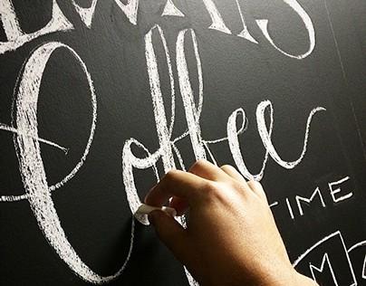 It's Always Coffee Time - Chalk Wall Art