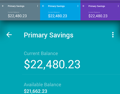 Material Design UI for Finance App
