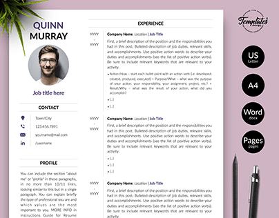"Resume Template ""Quinn Murray"""