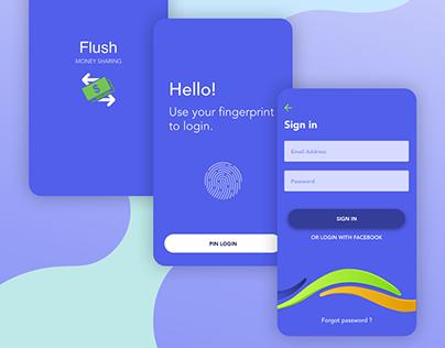 Flush money sharing - Mobile app