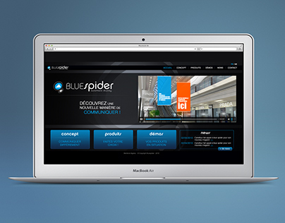 Bluespider website - UI/UX