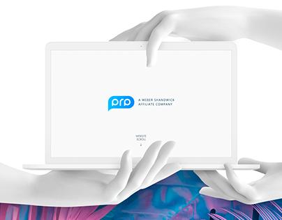 Website PRP - Neoclassical advertising agency