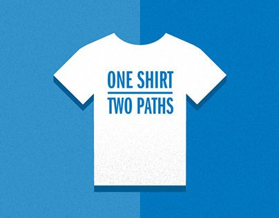 SF Goodwill | Infographic - One Shirt, Two Paths