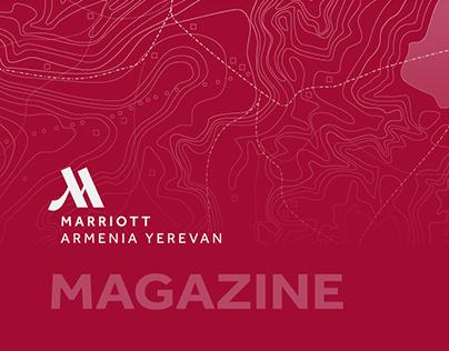 Magazine page design for Mariott Armenia