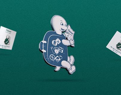 Mascot design for Flâneur Souvenirs & Supplies store