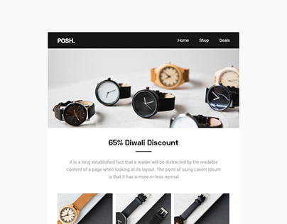 E-commerce Email Template Design