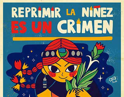 ¡Basta de represión a la niñez en territorio mapuche!