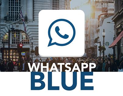 WhatsApp Blue   iOS Mobile Design Concept