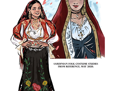 Sardinian Folk Costume Studies, 2020.