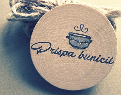 """""""Prispa bunicii"""" logo"""
