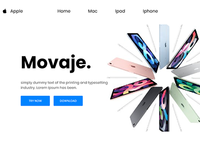 Redesign Landing page of Apple Website