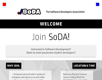 SoDA Event Flyer (2017-2018)