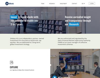 Investment Website UX/UI design
