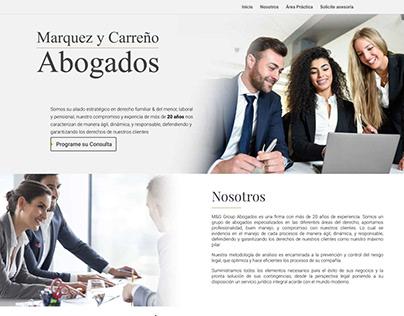Sitio Web Institucional - Marquez y Carreño