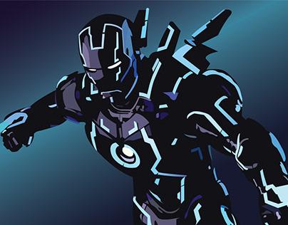Neon Iron Man